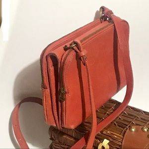 Madewell Leather Bag Crossbody Clutch Twin-pouch